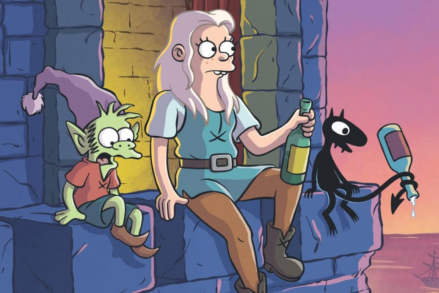 Matt Groening's new series, Disenchantment, made its way on to Netflix on Aug 15. The main characters are voiced by Abbi Jacobson and Eric Andre.