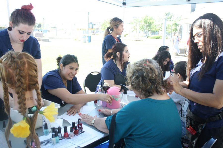 The Cosmetology club provided students free services on campus. Professor Nina Motrok said,