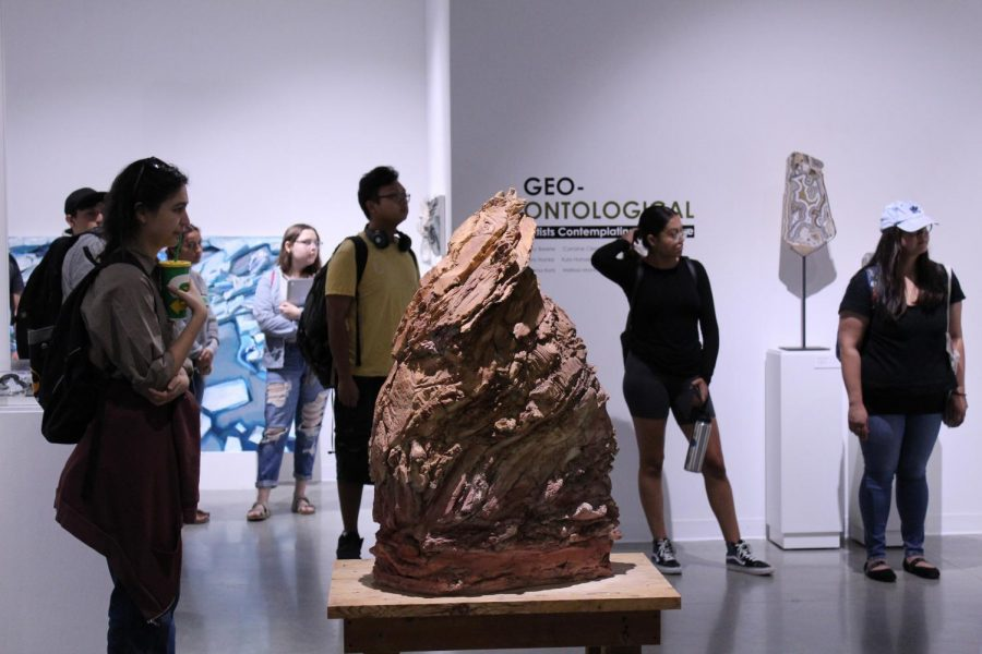The Cerritos College Art Gallery will be hosting a discussion panel on Sept. 24 to talk about the connections between art and geology. Four artists will be present to discuss their piece, with a live demonstration from Randi Hokett.