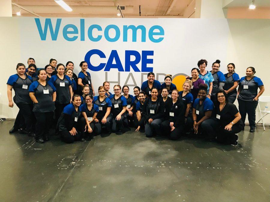 Cerritos College dental assistant majors volunteering at LA Care Harbor Oct. 15. Courtesy of Anne Contreras.