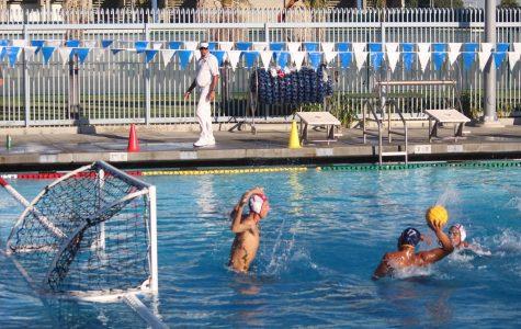 Men's Water Polo swimming towards post season