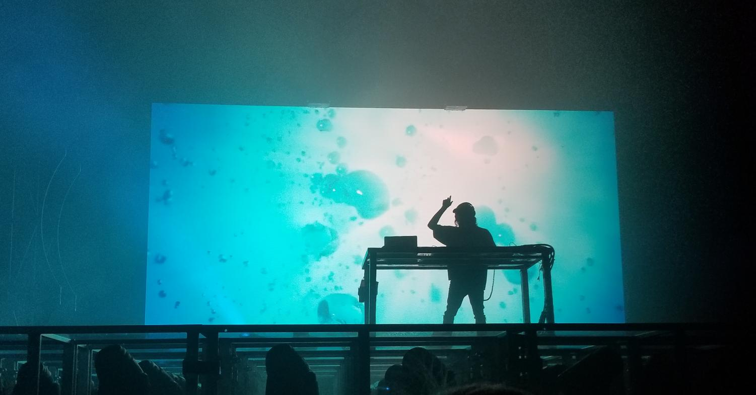 Porter Robinson played as his alias, Virtual Self, at the NOS Event Center with openers Danny L Harle and Raito on Sept. 28. Robinson's sets incorporate anime artwork, futuristic settings and include amazing lighting.