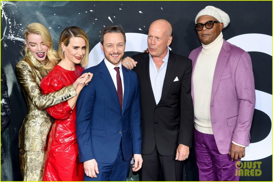 Glass+premiere+on+Jan.+17%0ALeft+to+Right%3A+Anya+Taylor-Joy%2C+Sarah+Paulson%2C+James+McAvoy%2C+Bruce+Willis%2C+Samuel+L.+Jackson