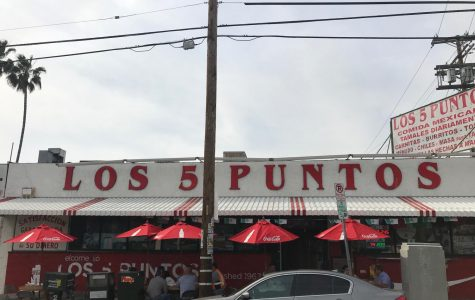 Los 5 Puntos located at, 3300 East Cesar E Chavez Avenue, Los Angeles, CA. Serves many dishes from tacos, burritos and menudo.