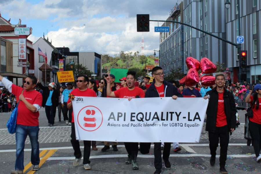 LGBTQ Asian and Pacific Islanders marched with allies at the annual Lunar New Year Parade in Chinatown to promote visibility and equality. The parade took place on Feb. 9.