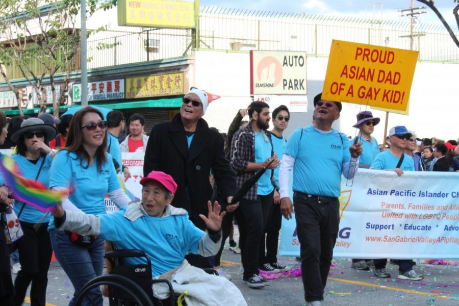 PFLAG San Gabriel Valley, the only Asian and Pacific Islander chapter in the United States joined API Equality LA and others in its New Year's parade contingent. Parents and families joined their children and friends with radiant smiles and supportive signs.