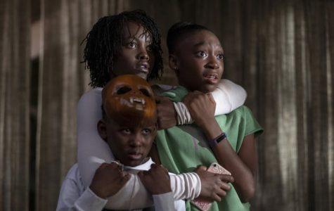 "Adelaide (Lupita Nyong'o) fights to keep Jason (Evan Alex) and Zora (Shahadi Wright Joseph) safe in ""Us."""