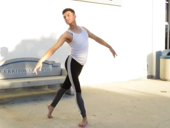 Daniel Monroy, he has came a long way on discovering his passion for the arts. Monroy has been dancing for Cerritos College for about two years.