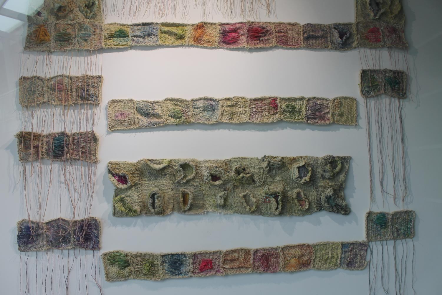 Using cotton and wool, Dawn Ertl demonstrated the mutations and trauma that affect us and carry into later generations.