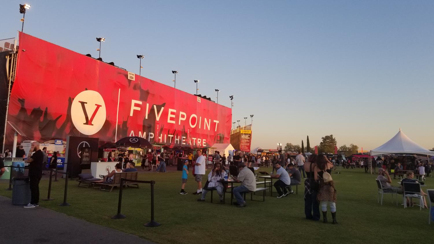 FivePoint Amphitheater featuring some of the best rock bands The show took place Aug. 29 2019.