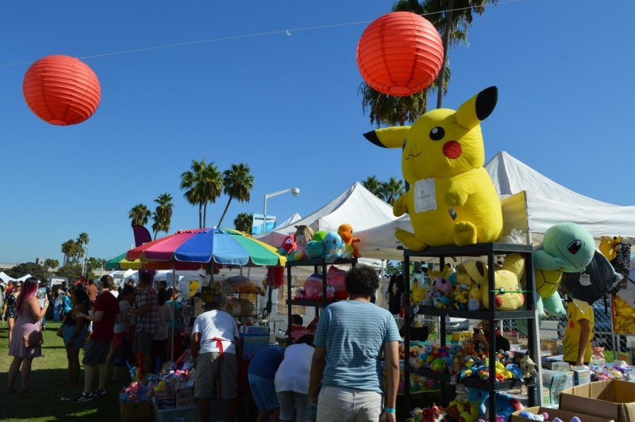 Toys and other arts and crafts popular in Japanese culture were sold and on display during the festival. Taste of Japan, Japanese Festival at The Pike Outlets in Long Beach Sept. 14, 2019.