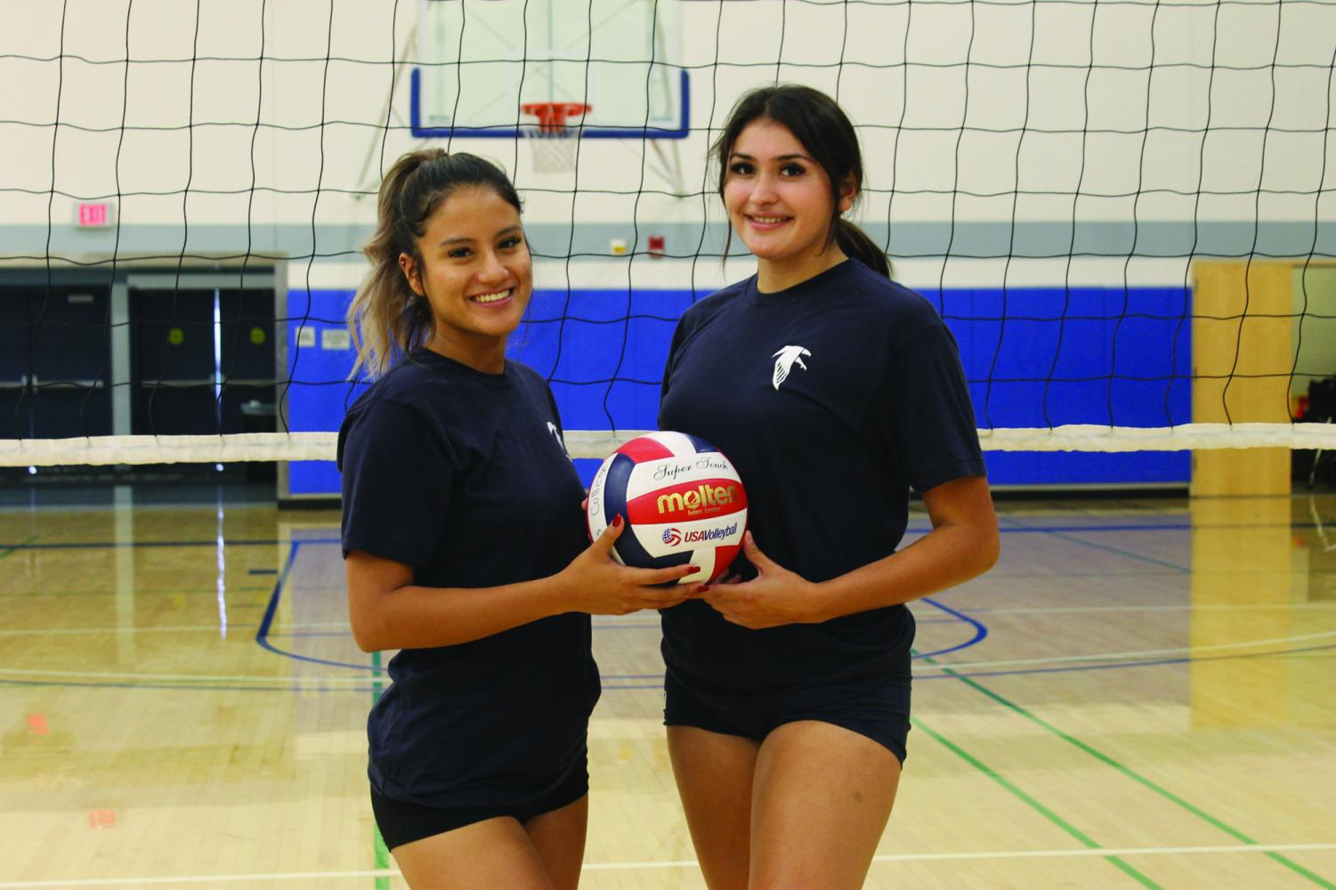 Mirka Granoble (left) and Alexia Torress (right) have been playing together since high school and now play for the Cerritos College Womens Volleyball team.