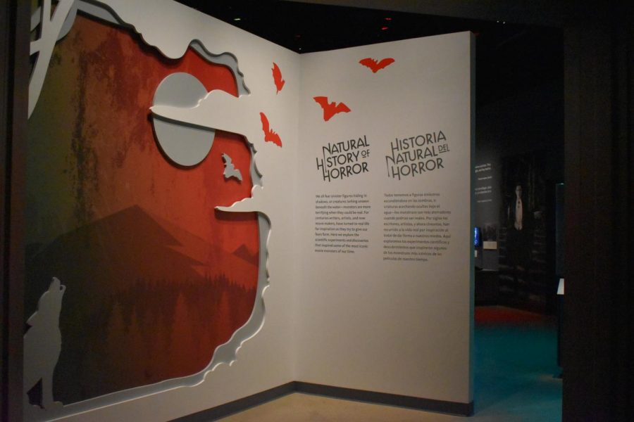The Natural History Museum has added a new exhibit and explores the origins of monsters. The exhibit premiered on Oct. 10, 2019 and will continue on until early 2020. Photo credit: Elizabeth Corcoles