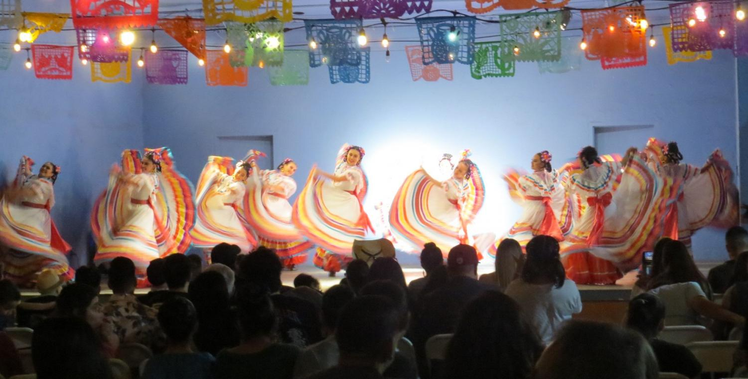 Young girls take the stage as they perform Mexico's traditional dance, Folklorico. Photo credit: Karen Miramontes