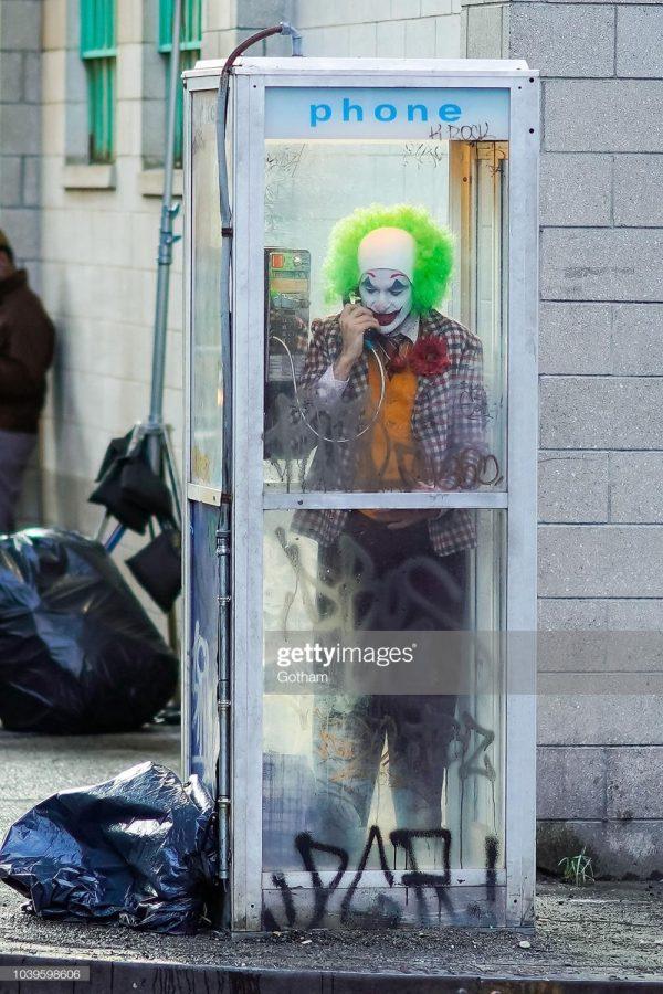 NEW YORK, NY - SEPTEMBER 24: Joaquin Phoenix is seen filming a scene for 'Joker' in Brooklyn on September 24, 2018 in New York City.