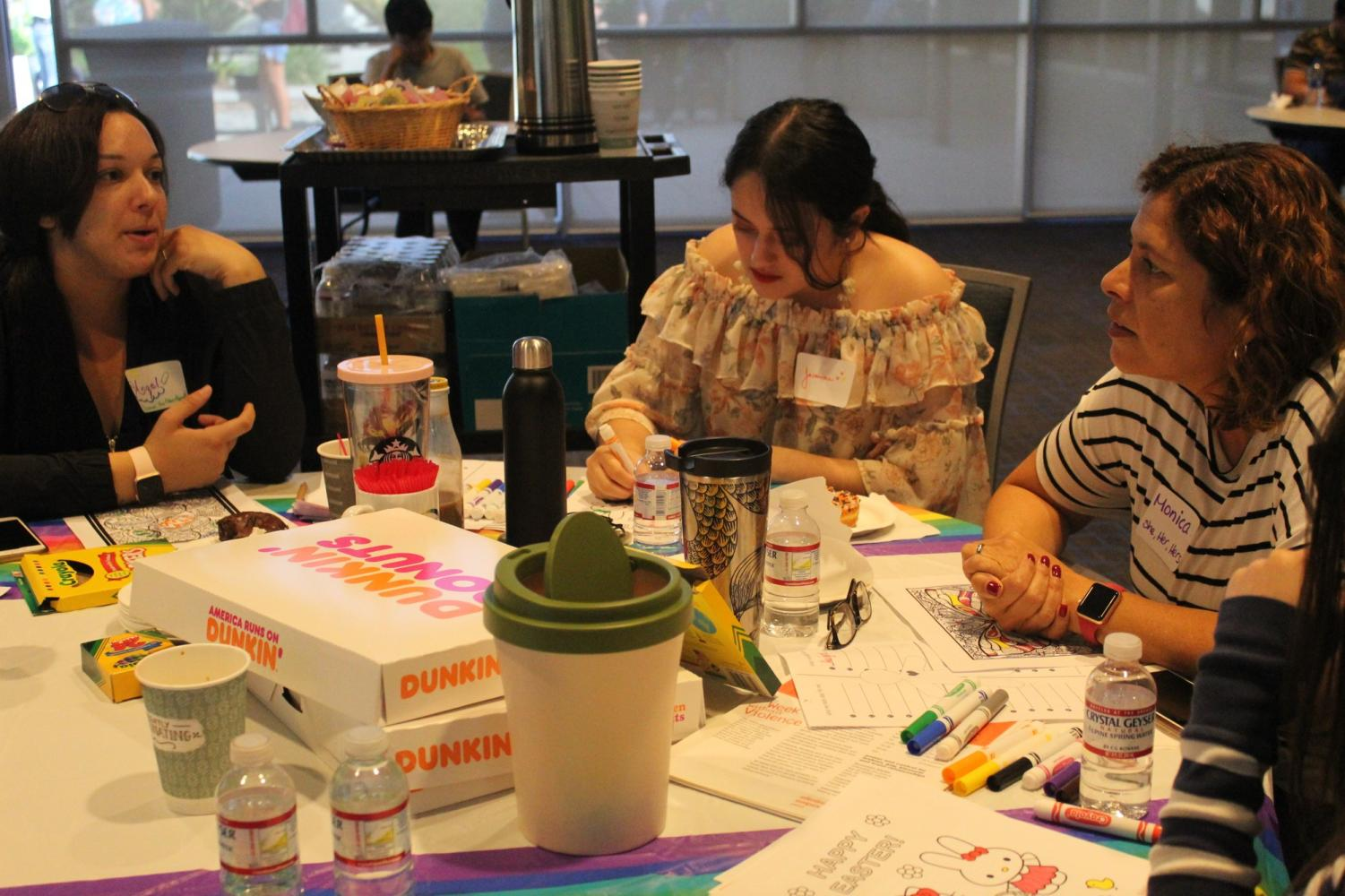 The first Queer Coffee at Cerritos College began in the Fall of 2018 and is a monthly event in support of the LGBTQ community. Their Domestic Violence workshop was held on Oct. 15, 2019. Photo credit: Naila Salguero