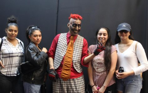 Theater students experiment with special effects makeup at Knott's Scary Farm