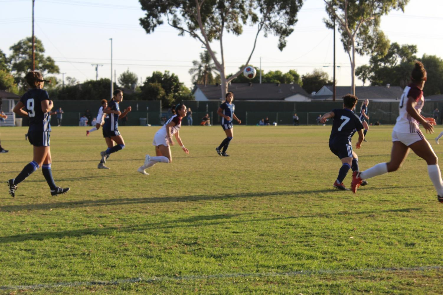 Women's soccer obtained the lead over Mt. San Antonio Mounties on Oct. 29, 2019. They are set to play El Camino on Nov. 5, 2019. Photo credit: Quinae Austin