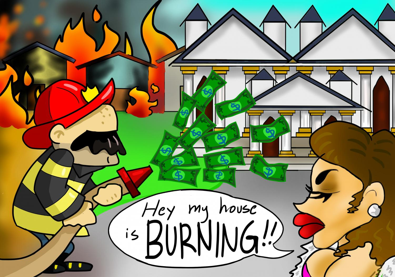 Fire doesn't discriminate, wealth does