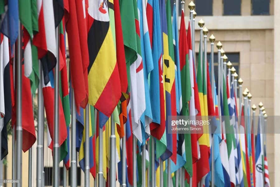 GENEVA+-+JUNE+08%3A+Numerous+national+flags+are+seen+in+front+of+the+United+Nations+Office+%28UNOG%29+on+June+8%2C+2008+in+Geneva%2C+Switzerland.+Housed+at+the+Palais+des+Nations%2C+the+United+Nations+Office+at+Geneva+serves+as+the+representative+office+of+the+Secretary-General+at+Geneva.+A+focal+point+for+multilateral+diplomacy%2C+UNOG+services+more+than+8%2C000+meetings+every+year%2C+making+it+one+of+the+busiest+conference+centres+in+the+world.+With+more+than+1%2C600+staff%2C+it+is+the+biggest+duty+stations+outside+of+United+Nations+headquarters+in+New+York