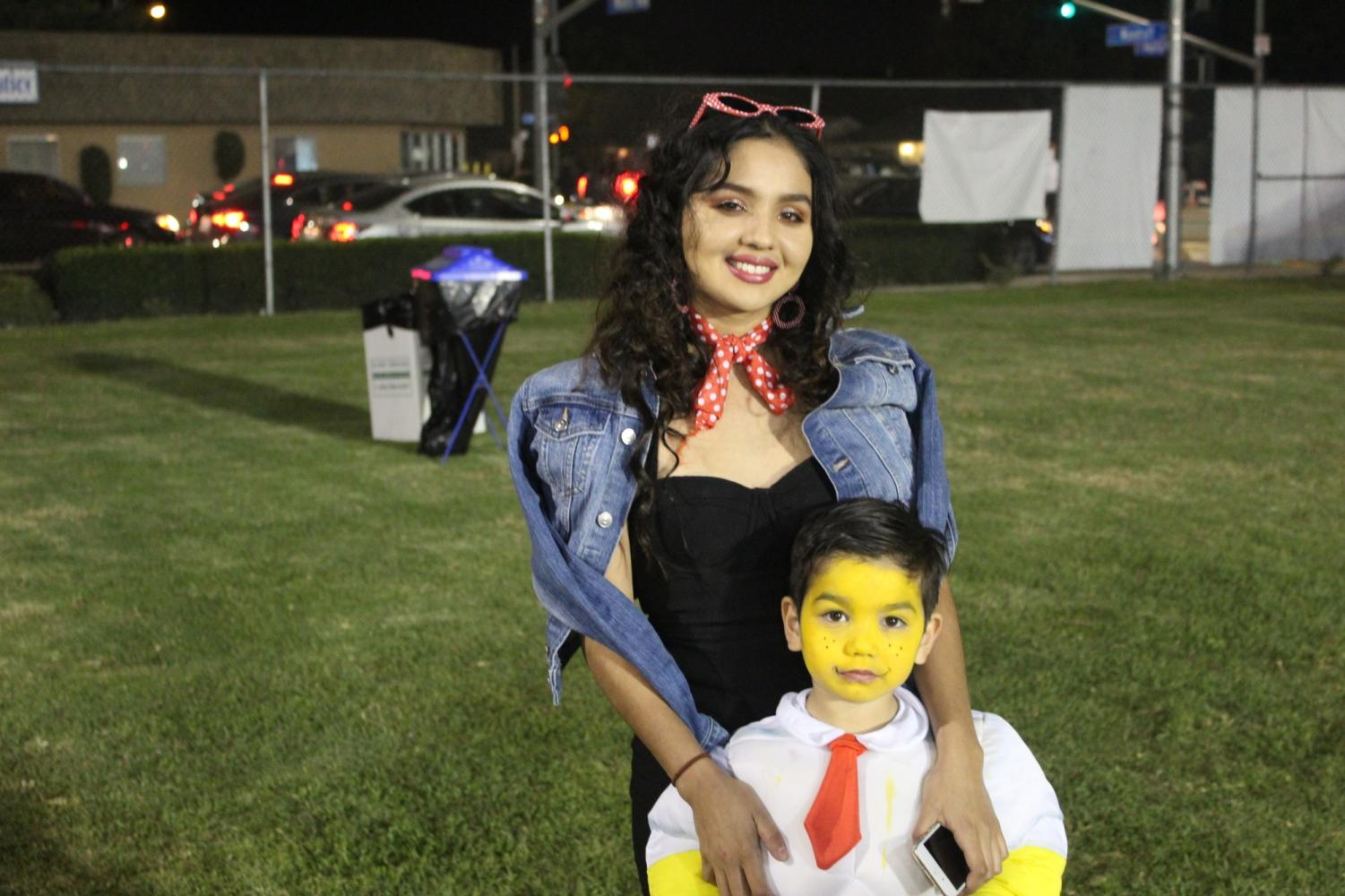 Tania Reyes and her son Sebastian Orrantia attend to the Pumpkin Patch Festival for their second consecutive year. This event was celebrated on Oct 31.