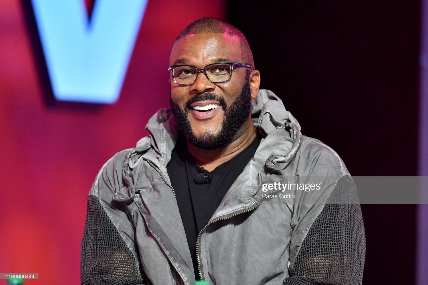 NEW ORLEANS, LOUISIANA - JULY 07: Tyler Perry speaks on stage at 2019 ESSENCE Festival Presented By Coca-Cola at Ernest N. Morial Convention Center on July 07, 2019 in New Orleans, Louisiana