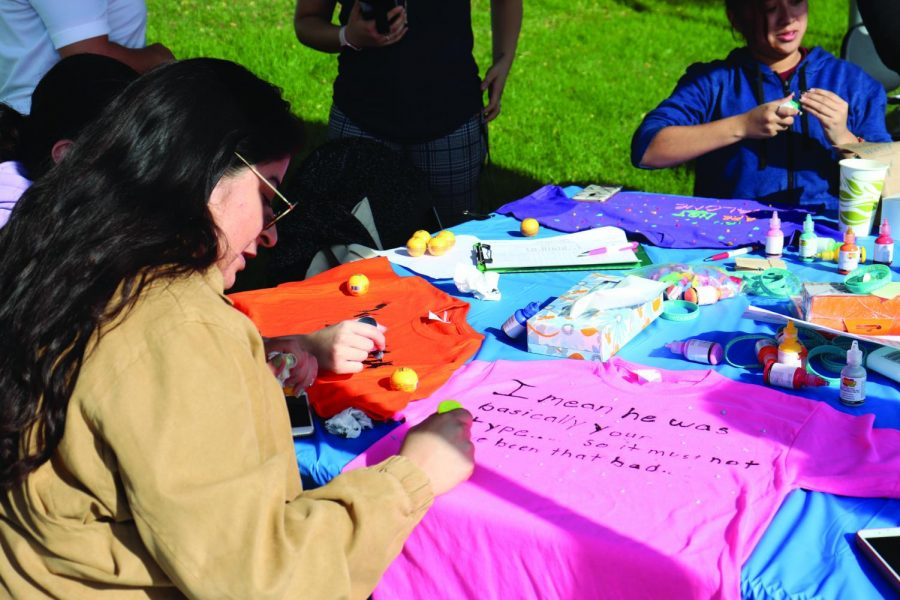Cerritos+College+students+were+given+the+opportunity+to+create+their+own+shirts+for+The+Clothesline+Project%2C+a+movement+created+to+bring+awareness+of+sexual+violence.+They+had+the+choice+to+leave+the+shirts+so+they+could+be+displayed+in+April+for+Sexual+Assault+Awareness+Month%2C+or+take+them+on+Dec.+10%2C+2019.