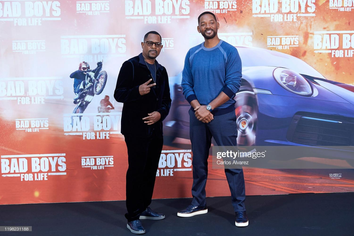 MADRID, SPAIN - JANUARY 08: Actors Will Smith (R) and Martin Lawrence (L) attend 'Bad Boys For Life' photocall at the Villamagna Hotel on January 08, 2020 in Madrid, Spain.