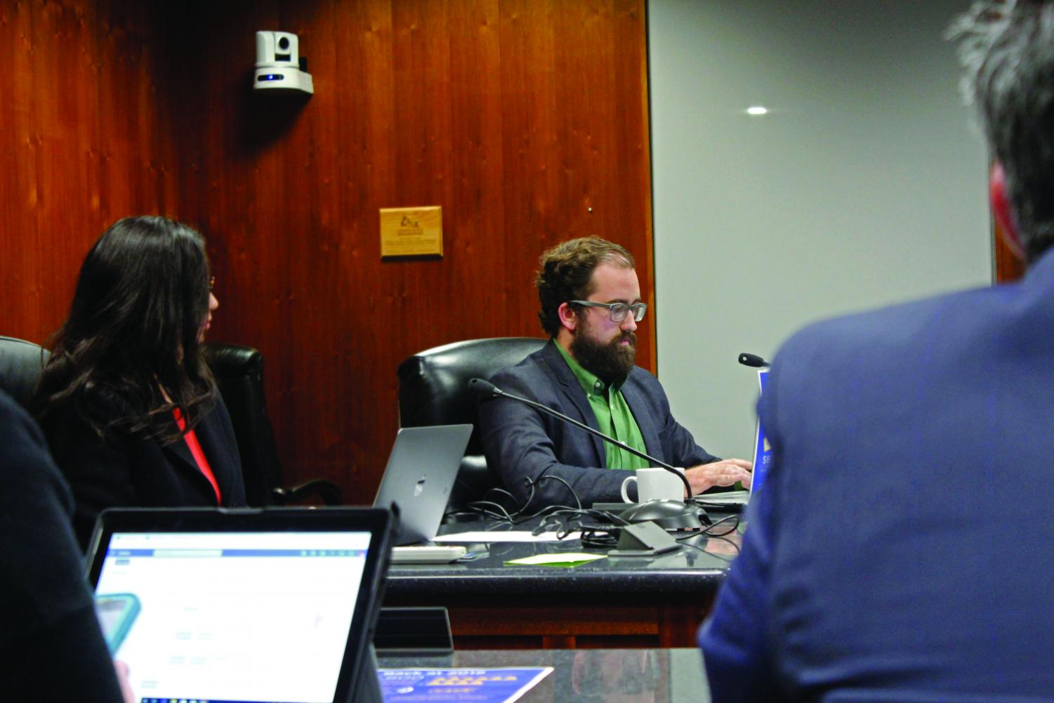 The motion to enter a Third Amendment with Follet Higher Education Group was carried on Jan. 15, 2020. This is in efforts to lower textbook costs for students on campus. Photo credit: Kianna Znika