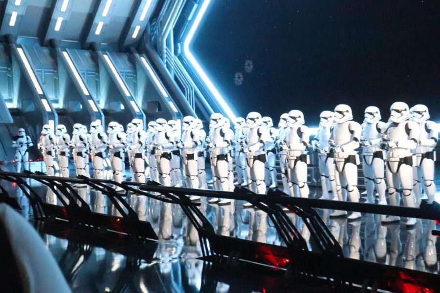 Dozens+upon+dozens+of+storm+troopers+on+guard+next+to+the+transport+ship.+All+of+theme+were+real+with+people+in+the+costumes.+Photo+credit%3A+Oscar+Torres