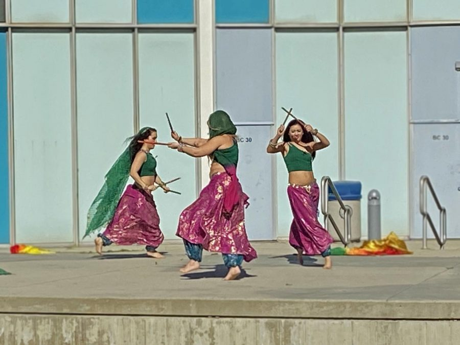 Bethany Regan, Akasha Starr and Marcella Raya, professional dancers, delivered a Bollywood dance performance. They incorporated a variety of India style dances and costumes.
