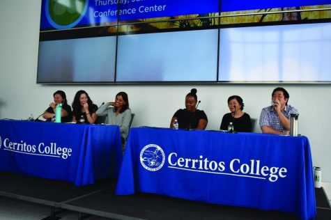 Cerritos College students network during Club Info Day