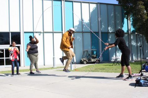 Black History Month playground celebration brings faculty and students together to play double dutch