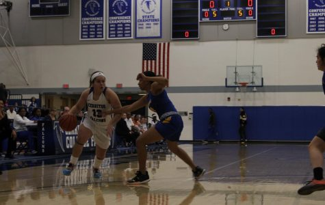 Sarah Hernandez Guard 13, drives the ball to the basket from the three point line. Against LA Southwest on February 5, 2020