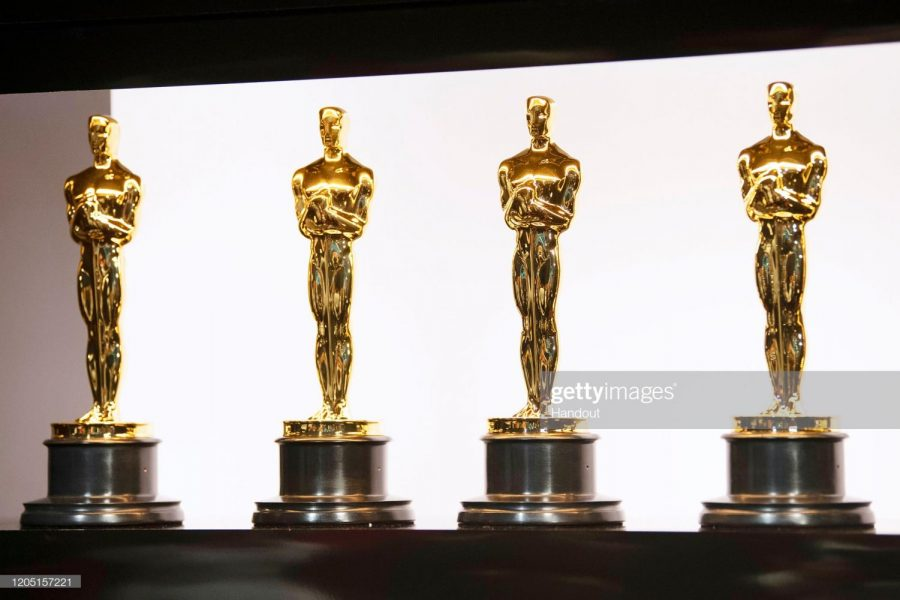 HOLLYWOOD%2C+CALIFORNIA+-+FEBRUARY+09%3A+In+this+handout+photo+provided+by+A.M.P.A.S.+Oscars+statuettes+are+on+display+backstage+during+the+92nd+Annual+Academy+Awards+at+the+Dolby+Theatre+on+February+09%2C+2020+in+Hollywood%2C+California.