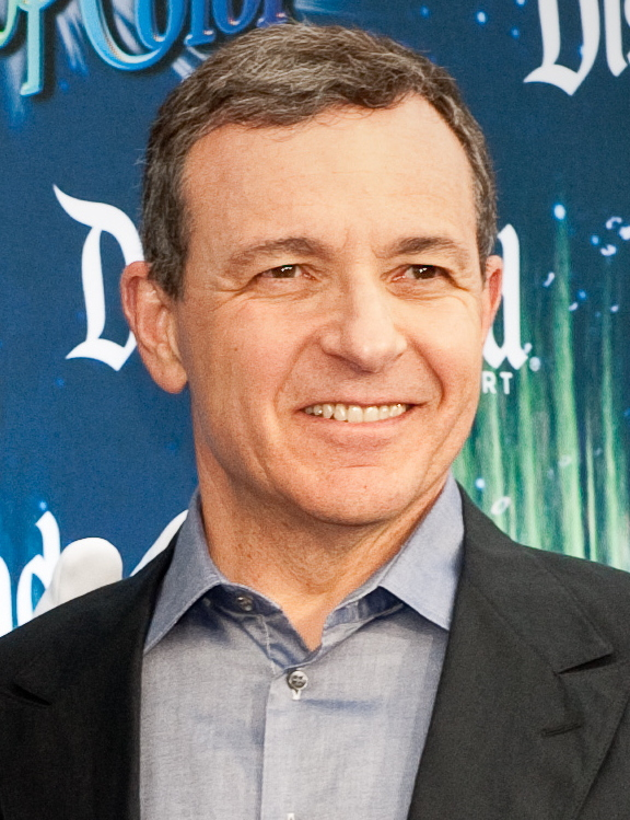 Heres Bob Iger on the opening premiere of World of Colors. A water them show at night that showing the beauty and music of Disney. Photo from Commons Wikimedia
