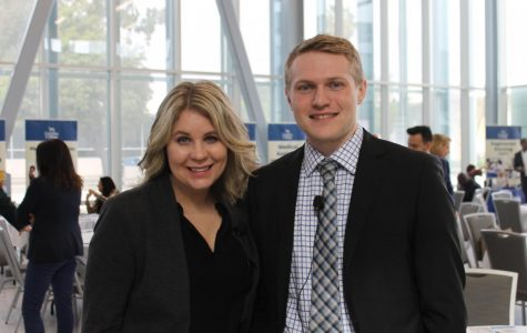 keynote speakers Sterling Smith Consulting Economist Emsi and Erin Baird Account Manager Higher Education Emsi on Friday March 6,2020. Photo credit: Robtrell Scott