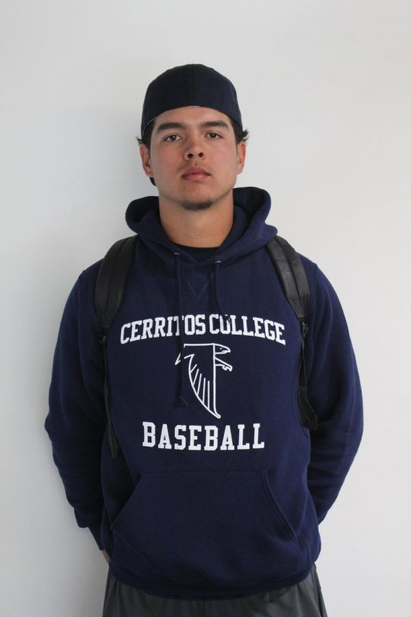 Portrait+photo+of+Richard+Castro+player+number+17+of+the+Cerritos+College+baseball+team.+Photo+credit%3A+Oscar+Torres