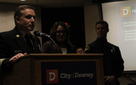 Downey awards local officer for 'bravery'