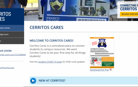 The Cerritos Cares webpage has many resources students might want during this crisis. The site is open to current and prospective students who might need a helping hand.