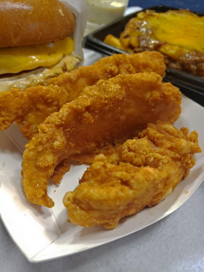 Nexx Burger chicken tenders are moist and crispy with not an overbearing amount of oil left on your fingers.