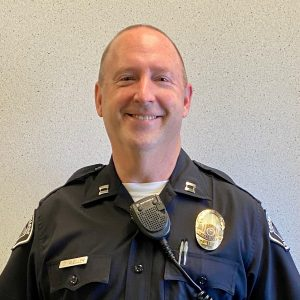 Donald Mueller, newly appointed CCPD captain. Captain Mueller will take on multiple responsibilities, including coordinating day to day activities of patrols around campus.