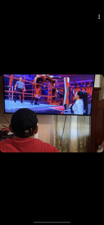 Shaan Singh watches World Wrestling Entertainment Monday Night Raw as Florida declares sports entertainment an essential business.