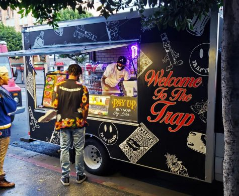 The Trap truck can be found in Los Angeles, CA. Here, a customer can find all their cannabis needs including THC-infused exotic drinks.
