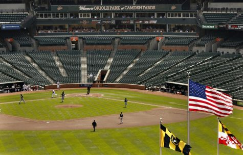 In this file photo, no fans were allowed to attend the Baltimore Orioles game at Camden Yards in Baltimore on Wednesday, April 29, 2015, due to unrest in the city. Owners of Major League Baseball teams gave the go-ahead to making a proposal to the players' union that could lead to the season starting around the Fourth of July weekend in ballparks without fans. (Carolyn Cole/Los Angeles Times/TNS)