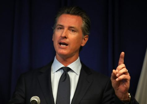California Gov. Gavin Newsom speaks during a news conference at the California justice department on September 18, 2019 in Sacramento, California. (Justin Sullivan/Getty Images/TNS)
