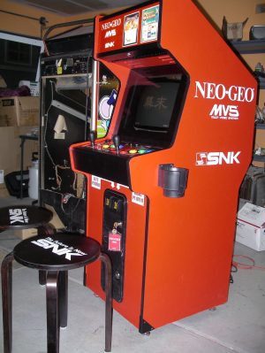 This is one of the arcade cabinets owned by SNK. This has some of their best fighting games like King of Fighters and Fatal Fury. Chris Ainsworth