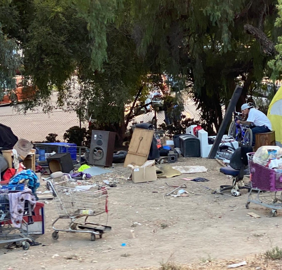 Young people camp on the sides of freeways as a place to call home. Photo credit: Jacqueline Cochran