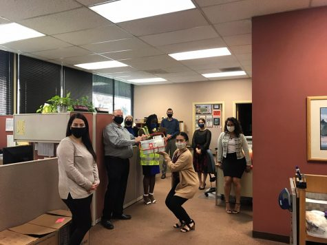 Lakewood Recreation Department show off an example of the first aid kits that are available for injuries that could occur during a disaster.