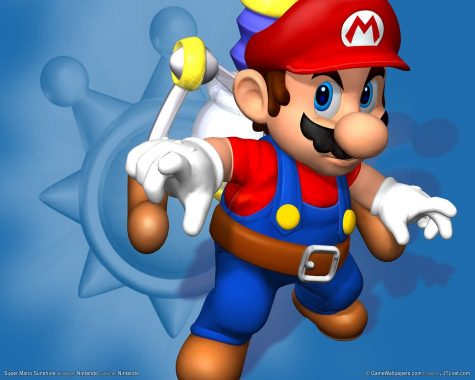 """Super Mario Sunshine"" is a 2002 Gamecube game and a sequel to Mario 64. The name of the game is to clean up the island, collect the shine sprites, and clear Mario"